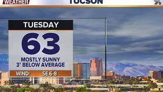 Chief Meteorologist Erin Christiansen's KGUN 9 Forecast Monday, January 16, 2017 - Video