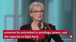 Meryl Streep's Golden Globes speech | Rare News - Video