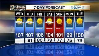 Temps linger around 107 for the rest of the work week - Video