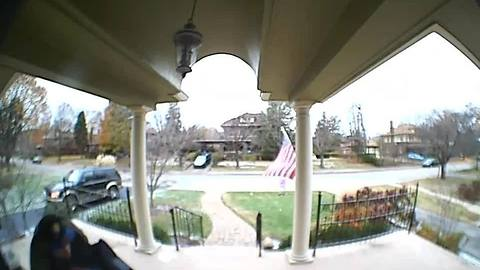 Man catches package thief dressed as pizza delivery driver
