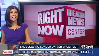 Las Vegas no longer on MLB short list - Video
