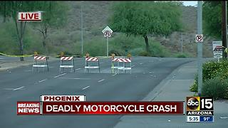 Motorcyclist killed in north Phoenix, driver in custody for suspected impairment - Video