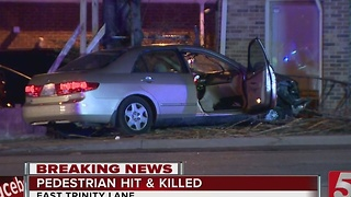 Pedestrian Killed, Driver Hurt In East Nashville Wreck - Video