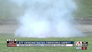 ATF demonstrates fireworks safety - Video