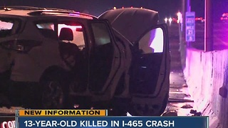 13-year-old killed on I-465 - Video
