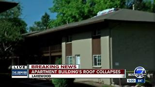 Apartment residents evacuated after roof collapse in Lakewood - Video