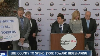Erie County to spend $100k toward ridesharing - Video