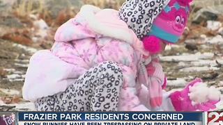Snow bunnies causing concerns for mountain residents - Video