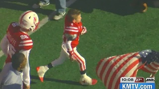 Norfolk boy leads team onto field as a Husker - Video