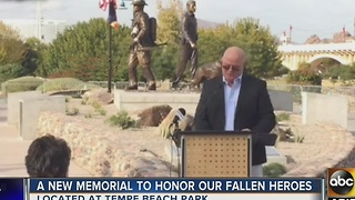 Tempe unveils memorial in honor of firefighters, officers, canines - Video