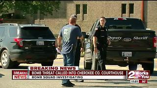 Cherokee County Courthouse on lockdown after bomb threat - Video