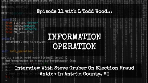 IO Episode 11, Interview with Investigative Reporter Steve Gruber On MI Election Fraud Antics