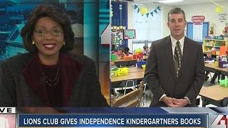 Lions Club gives Independence kindergartners books - Video