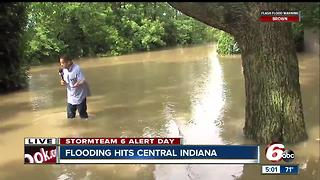 Flooding hits central Indiana - Video