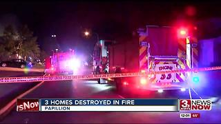 Full Story: Three homes damaged by fire - Video