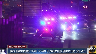 Investigation continues Tuesday into officer involved shooting along I-17 - Video