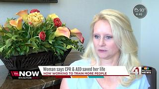 Woman says CPR & AED saved her life
