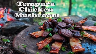 Tempura chicken mushroom: Chicken of the forest - Video