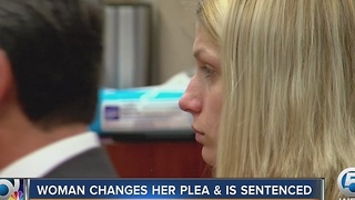 Woman changes her plea and is sentenced