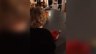 Santa Visits For Dinner - Video