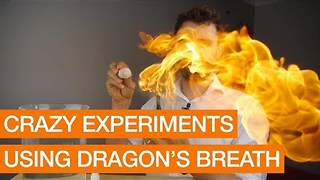 Crazy Experiments Using Dragon's Breath - Video