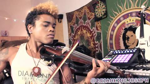 "Electric violin hip-hop remix of ""Hello"" by Adele"