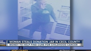 Woman steals charity donation jar in Cecil County