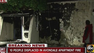 10 displaced after Avondale apartment fire - Video