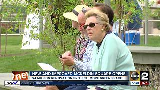 McKeldin Square reopens in Downtown Baltimore - Video