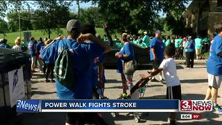 Power walk fights Stroke - Video