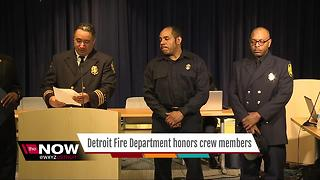 Detroit Fire Department honors crew members - Video