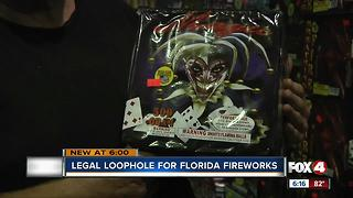 Legal Loophole for Florida Fireworks - Video