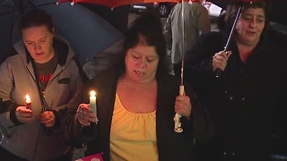 More than 100 people gather at vigil for 5-year-old Jackson Twp. murder victim - Video