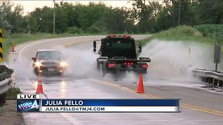 Dozens of roads flooded in Elkhorn - Video