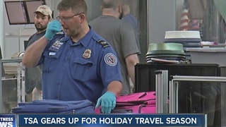 TSA gears up for holiday travel season - Video