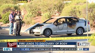 Body discovered inside burned car - Video