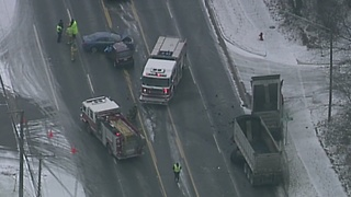 Crews investigate serious crash involving gravel hauler in Auburn Hills - Video