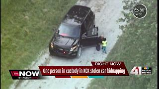 1 suspect caught, another on the run after KCK stolen car kidnapping - Video