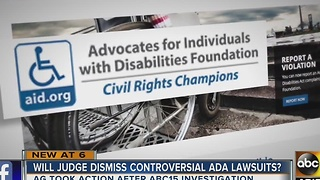 New developments in Advocates for Individuals with Disabilities group - Video