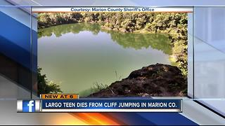 Largo teen dies after cliff diving into quarry, 13 others arrested for trespassing - Video