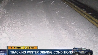 Tracking driving conditions