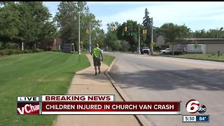Children injured in church van crash