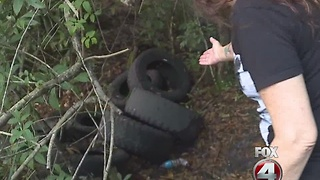 woman fearing her life living near homeless camp - Video