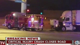 Driver critically injured in crash on Thursday