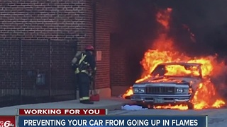 Car fires on the rise as temperatures fall - Video