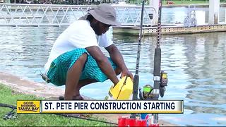 St. Pete Pier construction noise starting this week with test piling beginning July 17 - Video