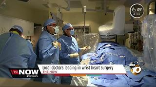 Local doctors perform wrist heart surgery - Video
