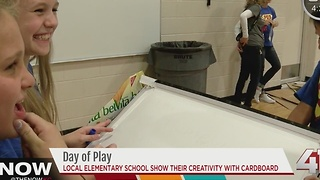 Students encouraged to create with their hands during day of play.