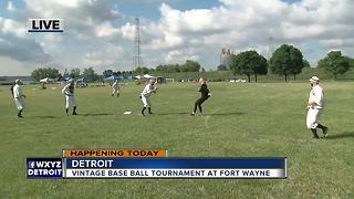 Jennifer Ann Wilson plays vintage base ball - Video