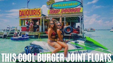 This Floating 'Drive-Thru' Burger Joint In The Panhandle Has Major Krusty Krab Vibes